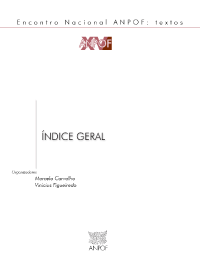 ANPOF XV Indice Geral