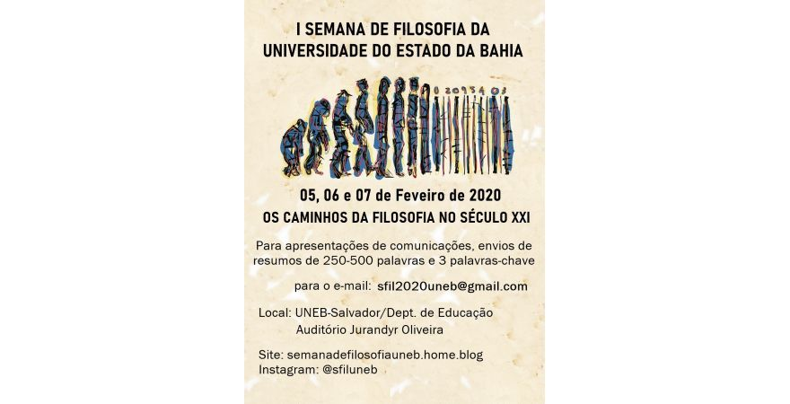I Semana de Filosofia da Universidade do Estado da Bahia