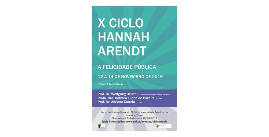 X Ciclo Hannah Arendt