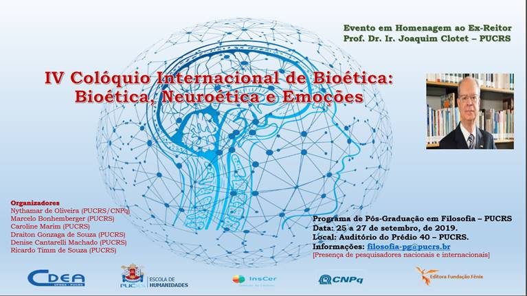 IV Colóquio Internacional de Bioética   4th International Bioethics Colloquium